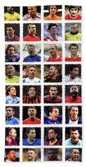 Football Legends Beach Sheet by Semih Yurdabak