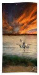 For Just This One Moment Beach Towel by Lois Bryan