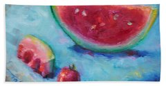 Forbidden Fruit Beach Towel by Talya Johnson