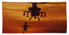 Four Ah-64 Apache Anti-armor Beach Sheet by Stocktrek Images