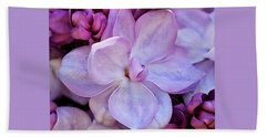 French Lilac Flower Beach Sheet by Rona Black