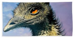 Friend Emu Beach Towel by Diana Angstadt