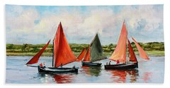 Galway Hookers Beach Towel by Conor McGuire
