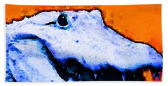 Gator Art - Swampy Beach Towel by Sharon Cummings