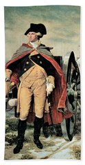 George Washington At Dorchester Heights Beach Towel by Emanuel Gottlieb Leutze