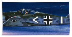 German Aircraft Of World War Two Focke Wulf Fighter Beach Towel by Wilf Hardy