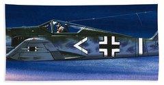 German Aircraft Of World War Two Focke Wulf Fighter Beach Sheet by Wilf Hardy