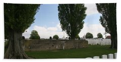Beach Towel featuring the photograph German Bunker At Tyne Cot Cemetery by Travel Pics