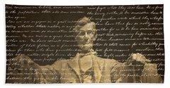 Gettysburg Address Beach Towel by Diane Diederich
