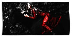 Gigi Red Dress Beach Sheet by Brian Reaves