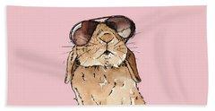 Glamorous Rabbit Beach Towel by Katrina Davis