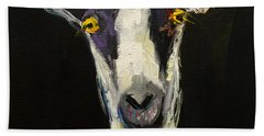 Goat Gloat Beach Towel by Diane Whitehead