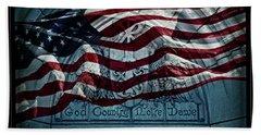 God Country Notre Dame American Flag Beach Sheet by John Stephens