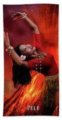 Goddess Pele Beach Towel by David Clanton