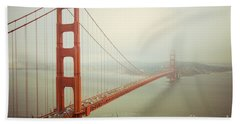 Golden Gate Bridge Beach Sheet by Ana V Ramirez
