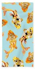 Goldfish Beach Towel by Uma Gokhale