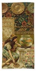 Goldfish Beach Towel by William Stephen Coleman