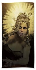 Gorgon Medusa Beach Towel by Joaquin Abella