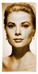 Grace Kelly Beach Towel by Opulent Creations