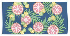 Grapefruit  Beach Towel by Lauren Amelia Hughes