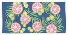 Grapefruit  Beach Sheet by Lauren Amelia Hughes
