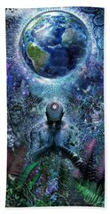 Gratitude For The Earth And Sky Beach Towel by Cameron Gray