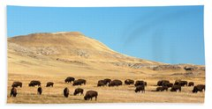Great Plains Buffalo Beach Towel by Todd Klassy