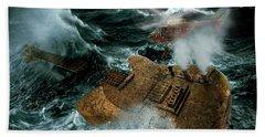 Guitarwreck Beach Towel by Marian Voicu