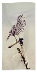 Happy As A Lark Beach Towel by Pam  Holdsworth