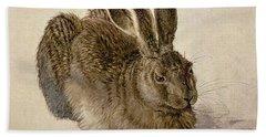 Hare Beach Towel by Albrecht Durer