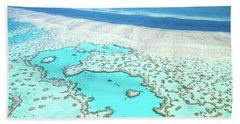 Heart Reef Beach Towel by Az Jackson
