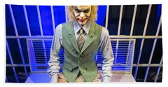 Heath Ledger As The Joker Beach Sheet by John Malone