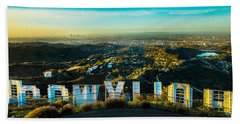 High On Hollywood Beach Towel by Az Jackson