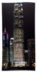 Hong Kong Skyline Beach Towel by American School