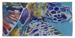 Honu Beach Towel by Marionette Taboniar