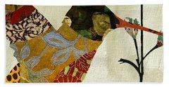 Hummingbird Brocade IIi Beach Sheet by Mindy Sommers