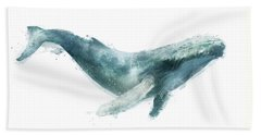 Humpback Whale From Whales Chart Beach Sheet by Amy Hamilton