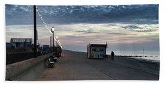 Hunstanton At 5pm Today  #sea #beach Beach Sheet by John Edwards
