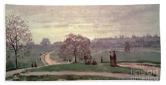 Hyde Park Beach Towel by Claude Monet