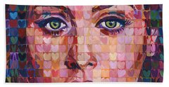 I Heart Adele - 25 Album Beach Sheet by Randal Huiskens