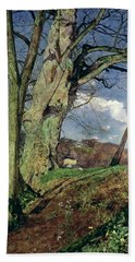 In Early Spring Beach Towel by John William Inchbold