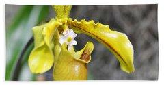 Intimate Orchid 5 - Sharon Cummings Beach Sheet by Sharon Cummings