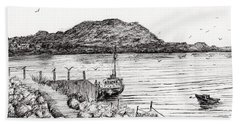 Iona From Mull Beach Sheet by Vincent Alexander Booth