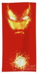 Iron Man  - Red  Beach Towel by Prar Kulasekara