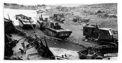 Iwo Jima Beach Beach Sheet by War Is Hell Store