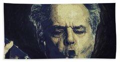 Jack Nicholson 2 Beach Sheet by Semih Yurdabak