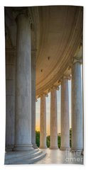 Jefferson Memorial Dawn Beach Towel by Inge Johnsson