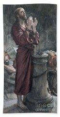 Jesus In Prison Beach Towel by Tissot