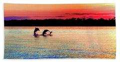 Joy Of The Dance Beach Towel by Karen Wiles