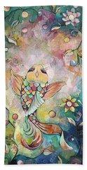 Joyful Koi I Beach Sheet by Shadia Derbyshire